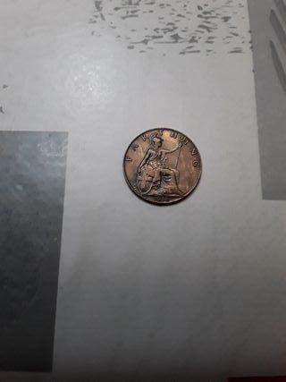 monedas. 1 Farthing GB