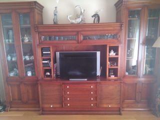Mueble TV de madera cerezo