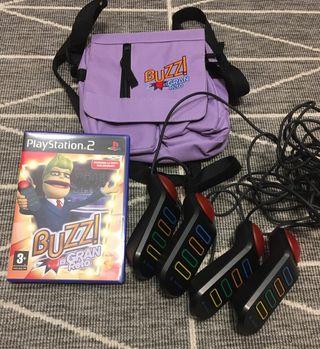 BUZZ el gran reto PS2 + pulsadores