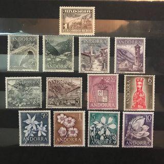 Sellos de Andorra EDIFIL 50/71** - Años 1951/63/66