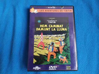 LOTE 7 PELICULAS DVD Y VHS - TINTIN - DIBUJOS