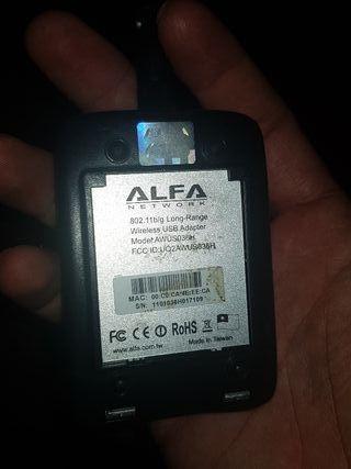 antena wifi ALFA realteck rtl8187L +PANEL