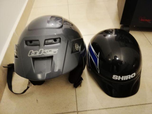 Casco moto gris