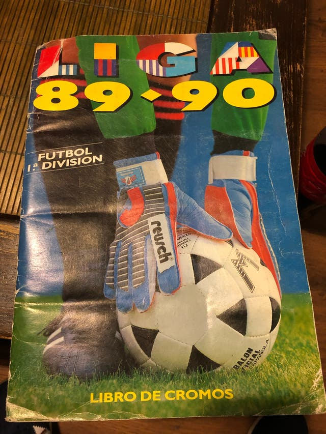 Álbum cromos liga 89-90