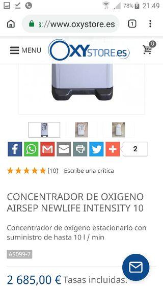 CONCENTRADOR DE OXIGENO DE 5L