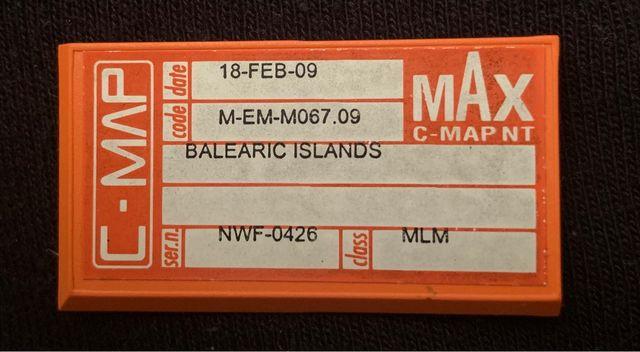 Cartografía C-MAP NT MAX Islas Baleares
