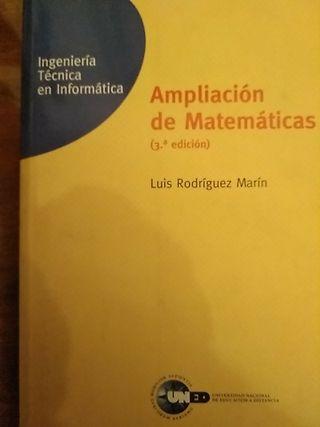 """""""AMPLIACIÓN DE MATEMÁTICAS""""d LUIS RODRÍGUEZ MARÍN"""