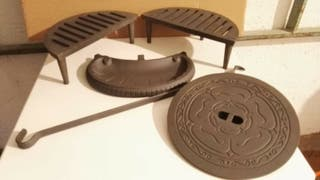 Estufa hierro forjado leña madera