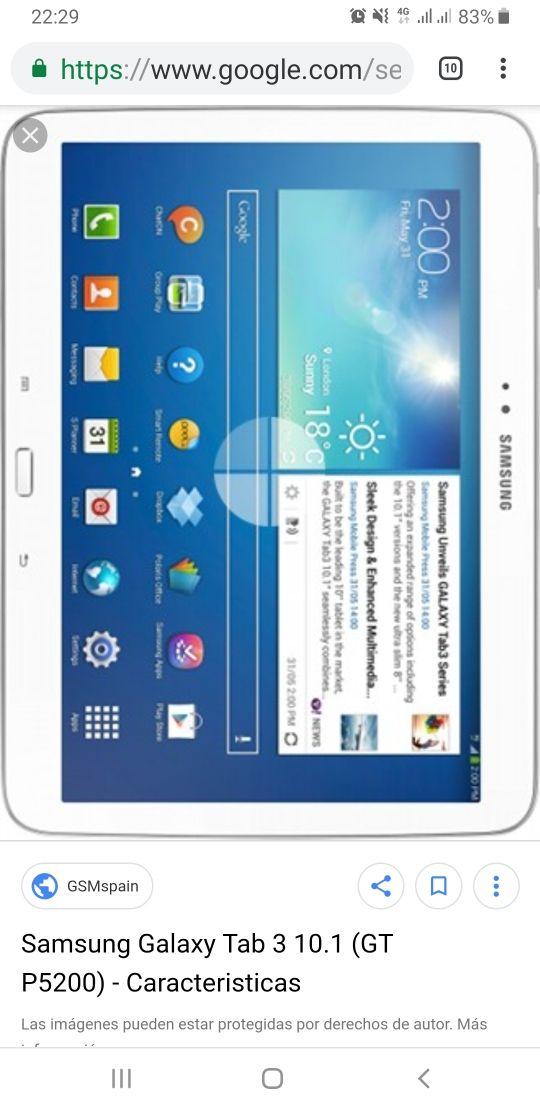 Tablet Samsung 10 'galaxy 3 gt P5200