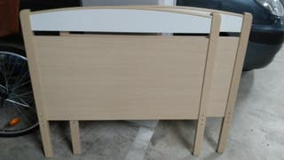 2 Cabeceros de cama individual 90 cm