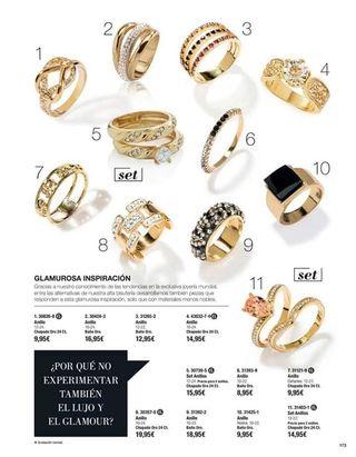 anillos chapados en oro
