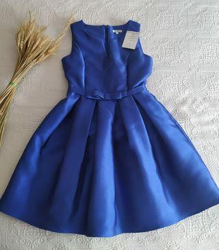 vestido azul eventos