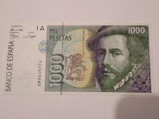Billete 1000 pesetas 1992
