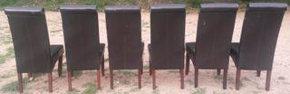6 sillas de piel sintetica o polipiel