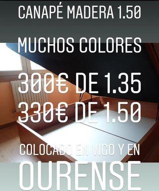 Canape 150 NUEVO a mostrar en Vigo de madera
