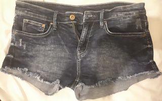 blue demin shorts size xs (6)