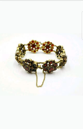 wow pulsera antigua 1910 oro y granate