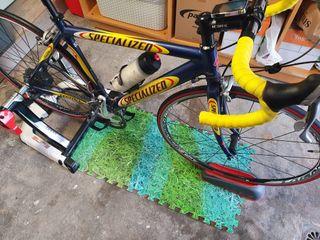 Bici carretera + rodillo