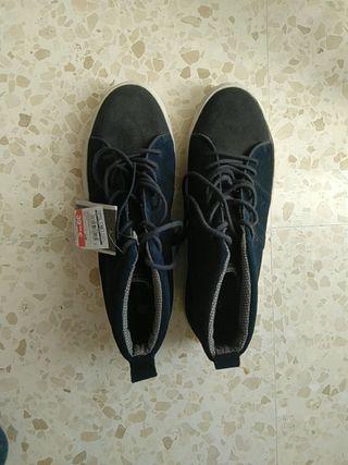 Zapatillas Springfiel de Piel. T42