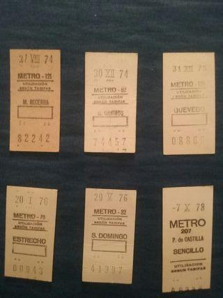 Billete de metro antiguos