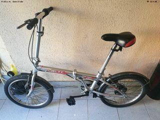 """Bici plegable de aluminio rueda 20"""" cambio 6V."""