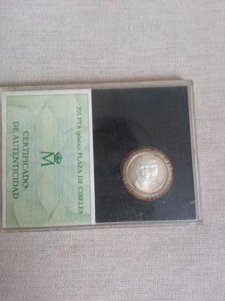 Moneda 200 Pesetas 1992 Madrid Plata Prueba S/C