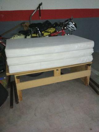 Mueble cama y colchón Peugeot Partner