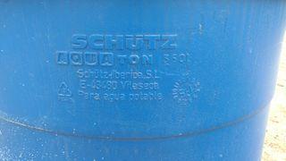 contenedor de agua potable de 350 litros schutz