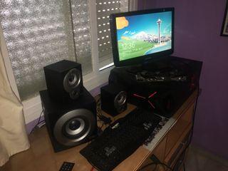 Ordenador + Tv/Monitor + Teclado/ratón + Altavoces
