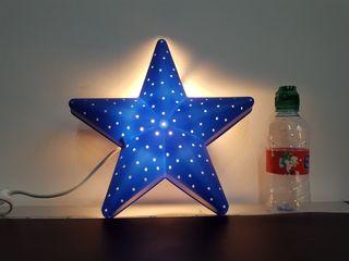 Lámpara infantil forma de estrella casquillo E-14