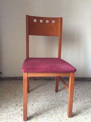 6 sillas comedor de madera
