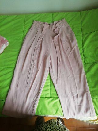 pantalón Zara talla M rosa claro