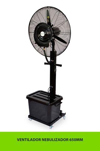 Ventilador Industrial Oscilante con Nebulizador