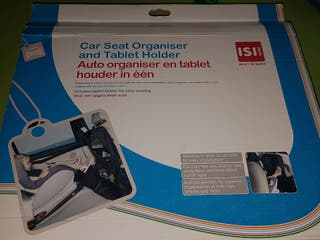 cubre asiento y organizador/ tablet