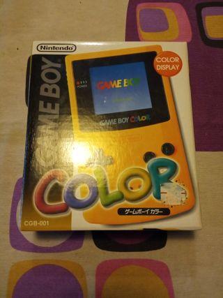 GameBoy Color con su caja, japonesa