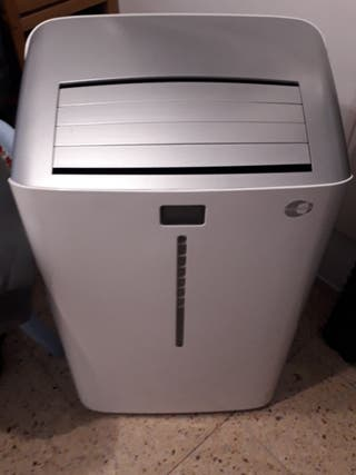 Aire acondicionado portátil y calefactor.