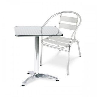 Mesa + 4 asientos Aluminio