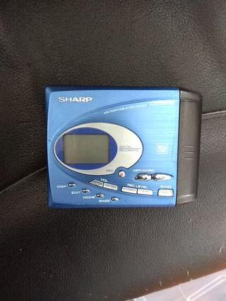 reproductor/grabadorminidisc portatil Sharp