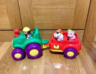 Tractor musical animales granja Volq+Son