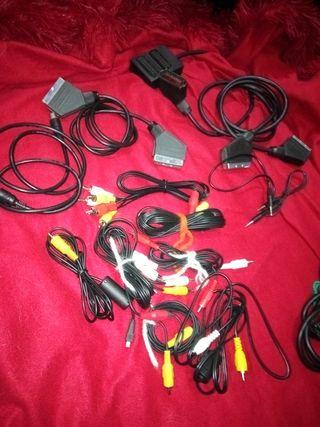 lote cables TV, antena, sonido