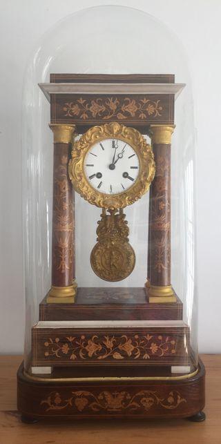 Marquetería Iii Segunda Napoleón Reloj Pórtico Fanal Mano Con Y De QsCtrdBhx