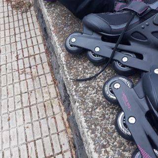 patines bolsa y equipo completo de proteccion