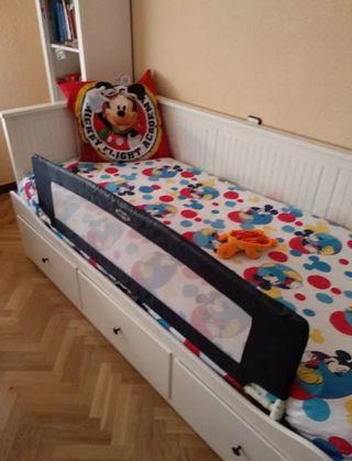 Barrera de cama abatible y plegable de Jane