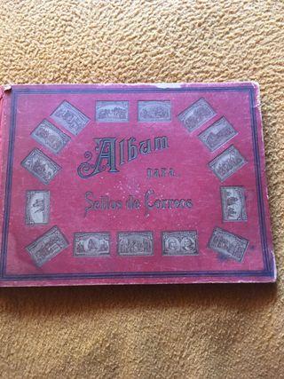 Àlbum de sellos antiguo