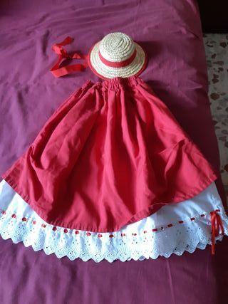 falda típica canaria niña 2 años
