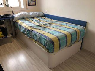 Cama canapé arcón + colchón