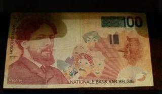 Billete de 10 francos belga