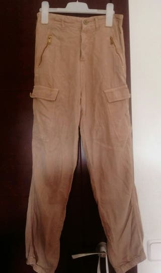 pantalón militar stradivarius