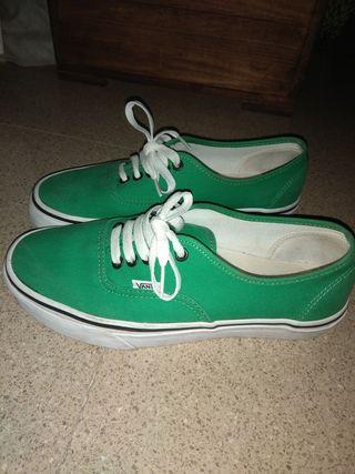 Vans autenticas, verde