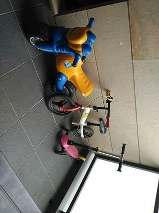 Patinete, bici y moto niños